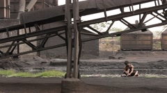 People at old Factory Stock Footage
