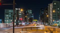 Tiimelapse looking down Yamate Dori in Tokyo towards Shinjuku and Nakano Stock Footage