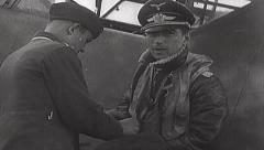 Rare WWII German Luftwaffe Film - Werner Molders - stock footage