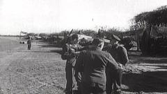Rare WWII German Luftwaffe Film - Ground Crew Mechanics Stock Footage