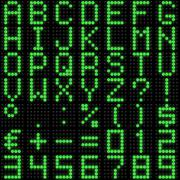 Dot-matrix font with reflection - stock illustration
