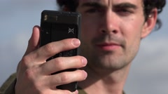 Selfie, Self Photography, Cell Phones - stock footage