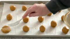 Making Peanut Butter Cookies, Baking Stock Footage