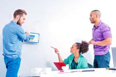 Young creative people at brainstorming Stock Photos