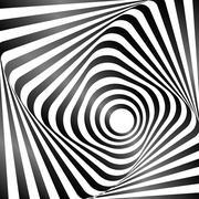 Illusion of wavy rotation movement. Op art design. Vector art. Piirros