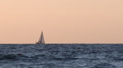 Sailboat Across the Sea - stock footage