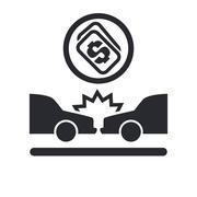 Vector illustration of isolated crash money icon - stock illustration
