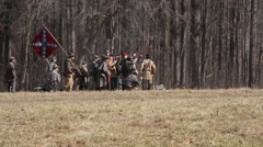 Civil War Reenactment Shot Arkistovideo