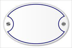 Porcelain Plaque - stock illustration