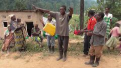 Dancing Pygmies - Uganda, East Africa Stock Footage