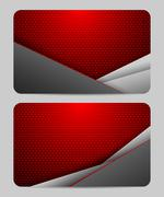 Stock Illustration of business card template