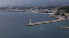 Stock Video Footage of Nice France coast Cote d'Azur