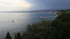 Nice France coast Cote d'Azur - stock footage