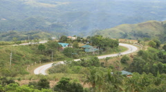 Philippine winding mountain road Stock Footage