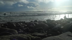 Waves Rolling Onto Rocks Stock Footage