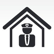 Vector illustration of isolated police station icon Piirros