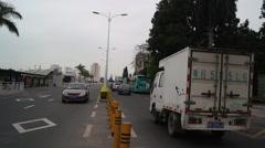 Shenzhen Shekou port traffic landscape Stock Footage