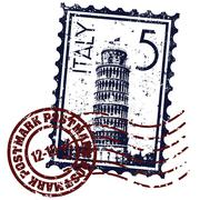 Vector illustration of isolated Italy stamp icon Stock Illustration