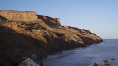 Sunset cliff Time-lapse Stock Footage