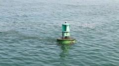Buoy In The Ocean - stock footage