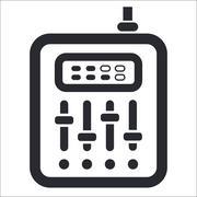 Vector illustration of isolated mixer icon Stock Illustration