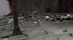 Cluttered Alleyway Stock Footage