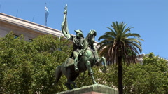 Monument to General Manuel Belgrano in Buenos Aires, Argentina Stock Footage