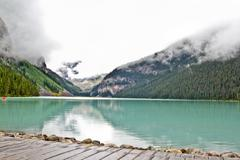 The magnificent Lake Louis - stock photo