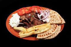 donner kebab meal - stock photo