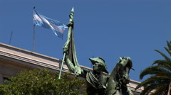 Monument to General Manuel Belgrano in Buenos Aires, Argentina - stock footage