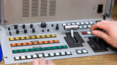 Video mixing console Stock Footage