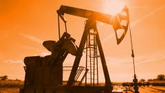 Oil Pump Jack at Sunset Stock Footage