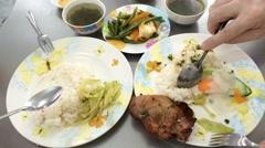 One dollar food in Vietnam timelapse Stock Footage