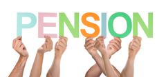 Group Of Hands Holding Letter Pension Stock Photos