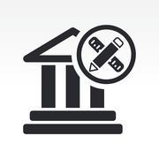 Vector illustration of single isolated historical design icon Stock Illustration
