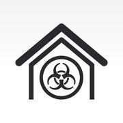 Vector illustration of isolated biological danger icon - stock illustration