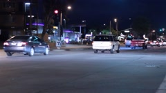 Intersection at night 2 Stock Footage