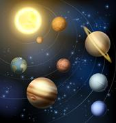 Planets of our Solar system Piirros