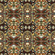 authentic seamless floral geometric pattern, ethnic ukrainian ba - stock illustration