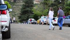People and Vehicles Turn Up for the Clarens Craft Beer Festival Stock Footage