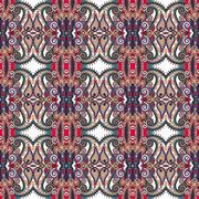 Authentic seamless floral geometric pattern, ethnic ukrainian ba Stock Illustration