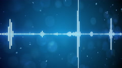 Music equalizer seamless loop background 4k (4096x2304) Stock Footage