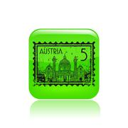 Stock Illustration of Vector illustration of single Austria icon