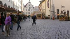 Street with people in the Old Town of Tallinn, editorial  Stock Footage
