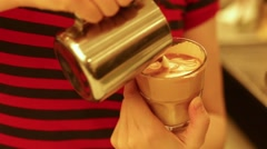 Brewing cappuccino Stock Footage