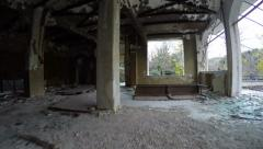 Ruined Interior of a Building Stock Footage