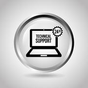 computer support design, vector illustration eps10 graphic - stock illustration