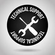 technical support design, vector illustration eps10 graphic - stock illustration