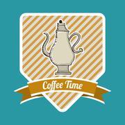 coffee time design, vector illustration eps10 graphic - stock illustration