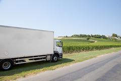 Stock Photo of a truck delivery